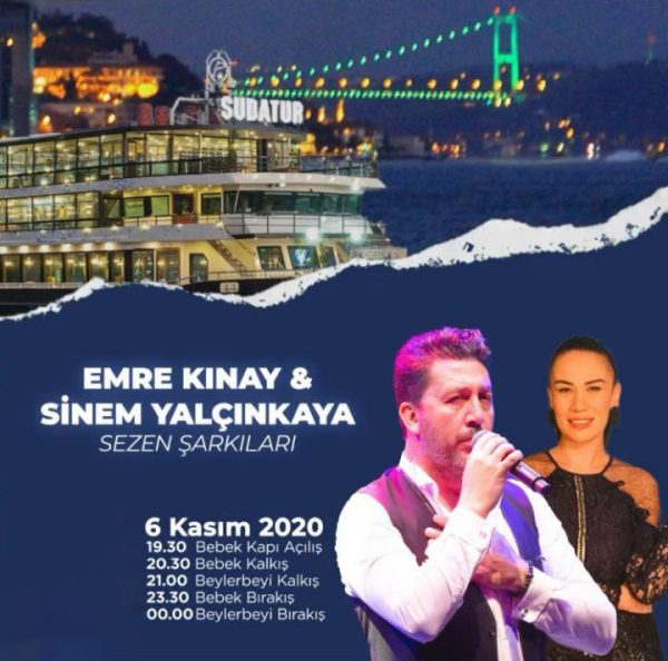 کنسرت خواننده ترکیه ای استانبول امره کنای اکتبر ۲۰۲۰